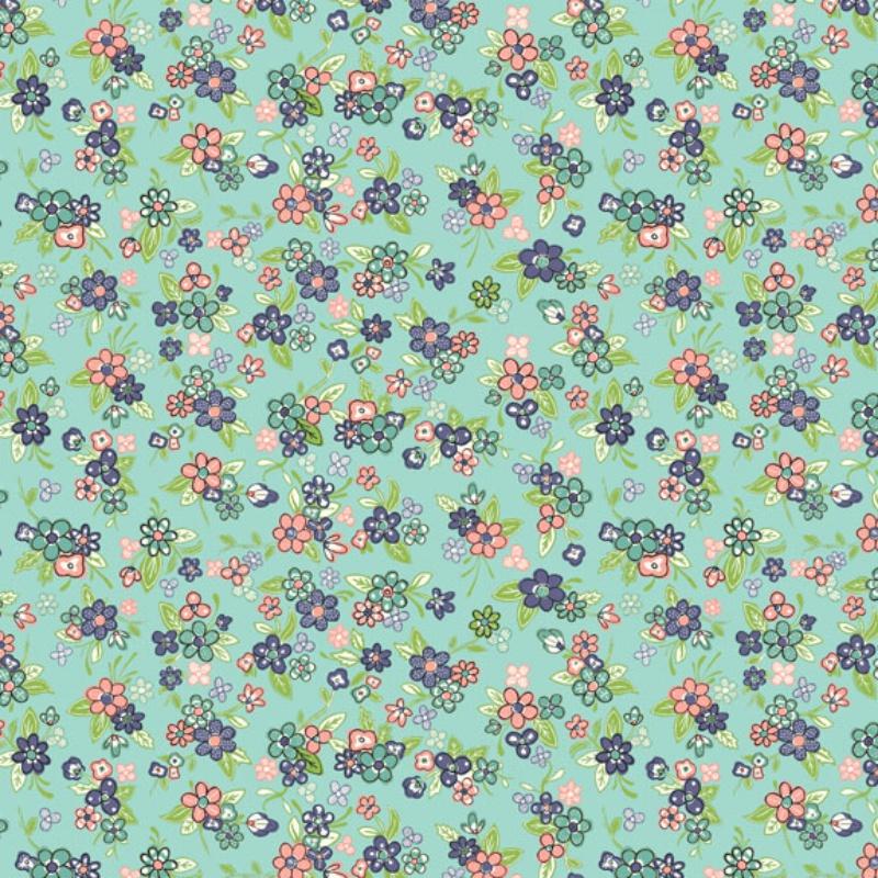 Katie Jane Fabric  by Makower #1903-T Premium Cotton