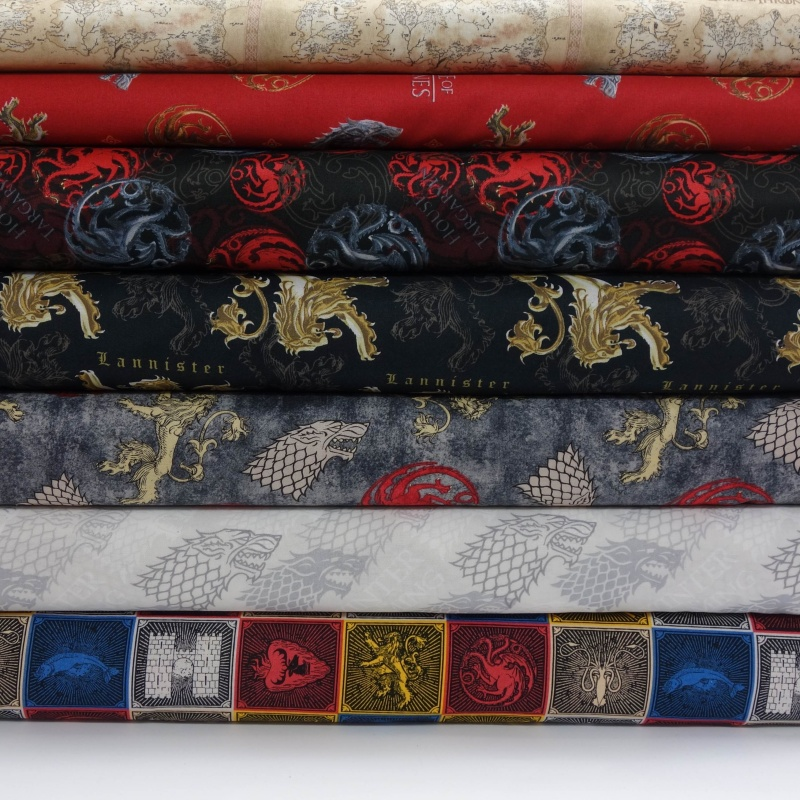 GAME OF THRONES Fabric Fat Quarter Cotton Craft Quilting YOU WIN OR YOU DIE