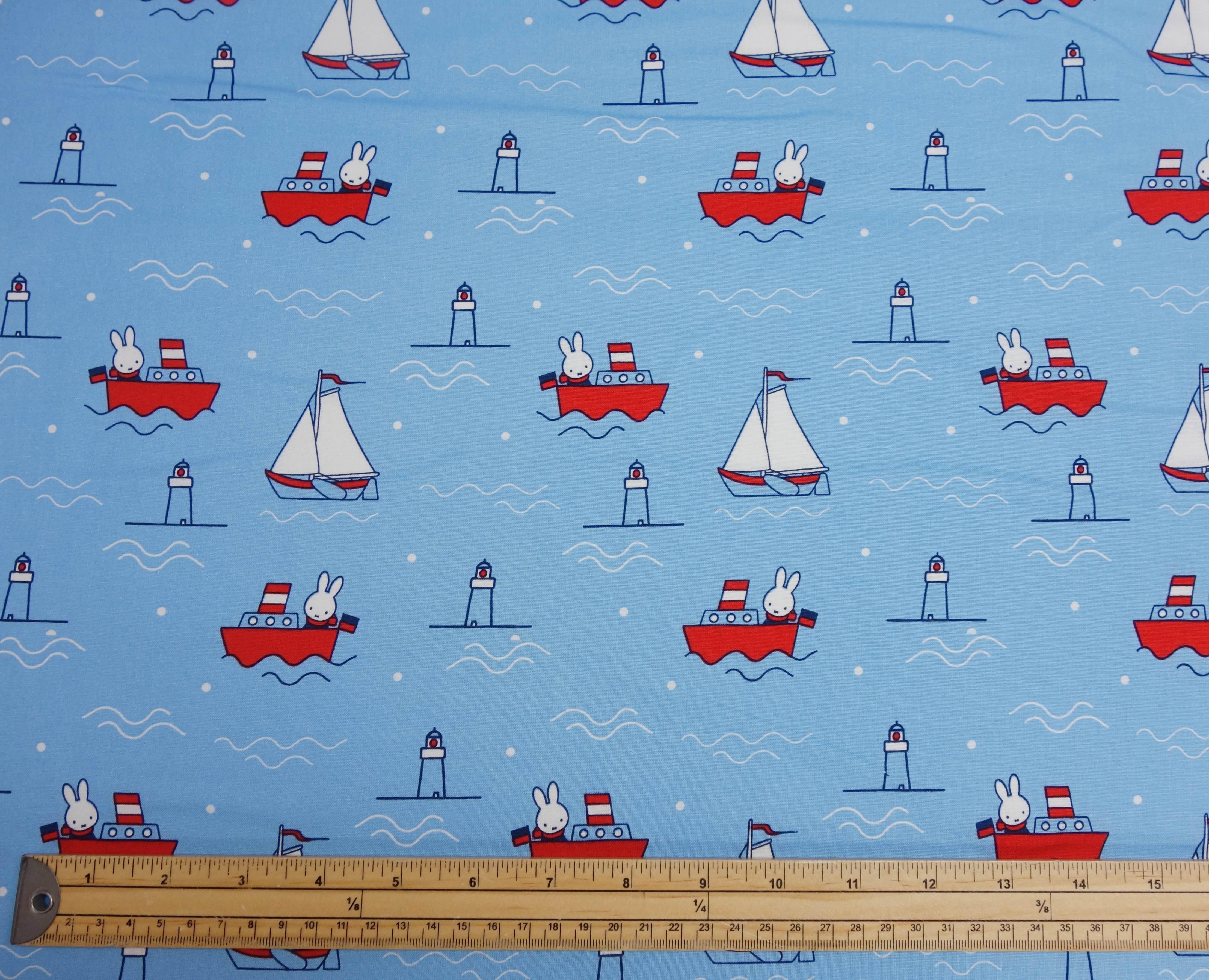 Art Décor: Cotton Craft Miffy Nautical Patchwork Cotton