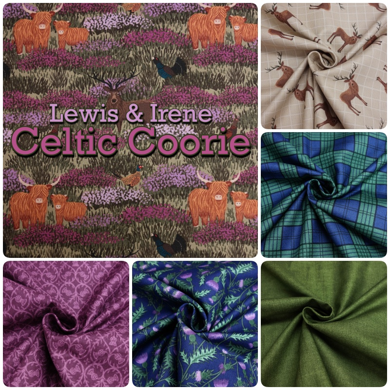 /'Celtic Coorie/' In the Heather on Natural 100/% cotton Lewis /& Irene